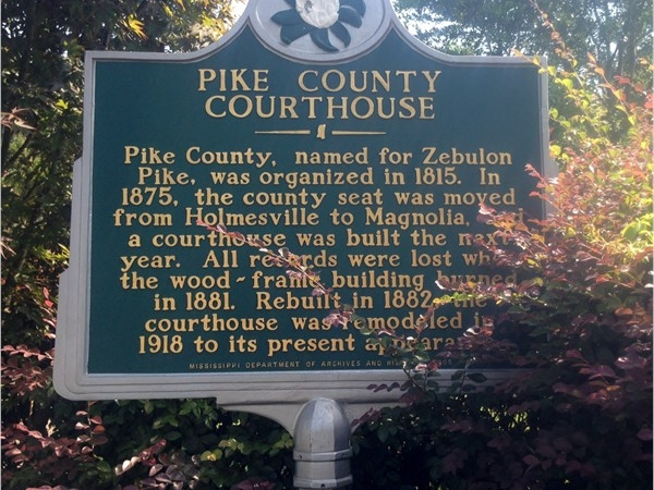 History of the Pike County Courthouse - county seat