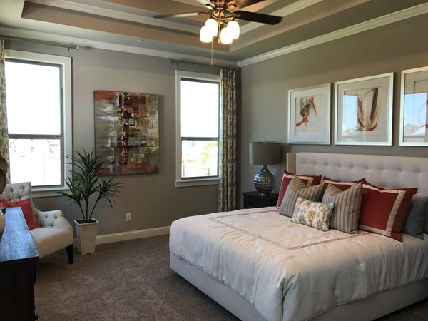 A model home master bedroom - very elegant