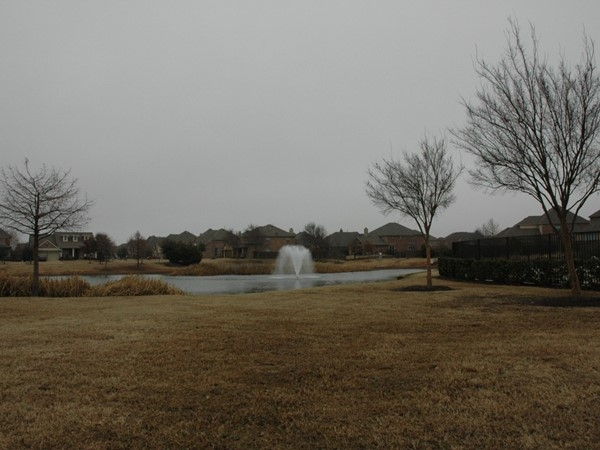 Neighborhood lake at Lakes of Prosper