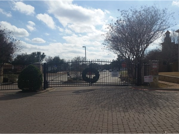 Gated neighborhood adds extra security for homeowners