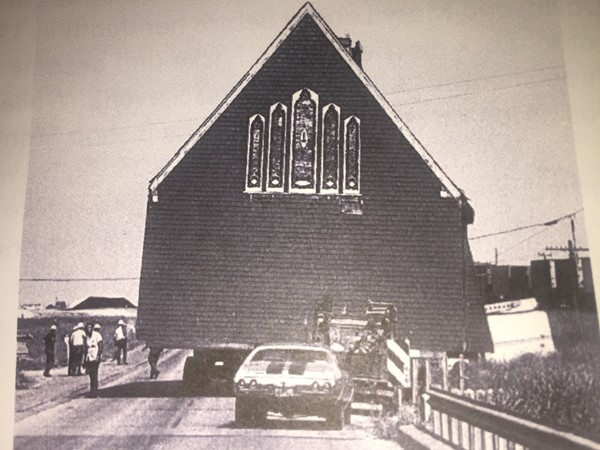 Moving of the church to where it resides today in Heath