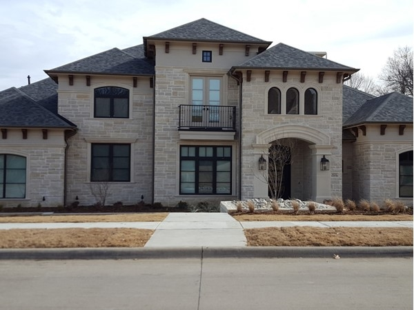 One of the many beautiful custom homes in Whitley Place
