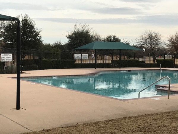 "The Brookstone ""main"" pool in December"