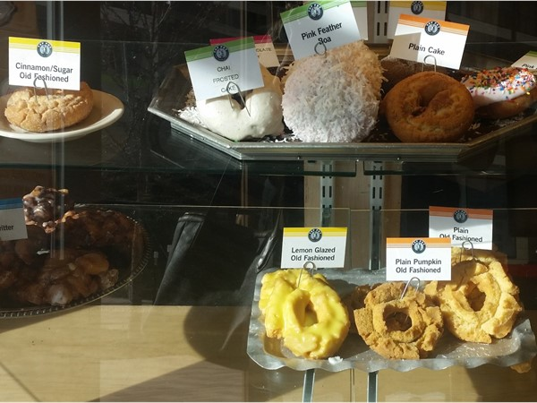 Delicious treats at Top Pot Hand-Forged Doughnuts and Coffee