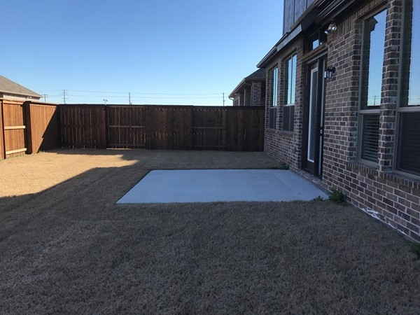 The spacious backyard is one of the trademarks for Megatel in Craig Ranch