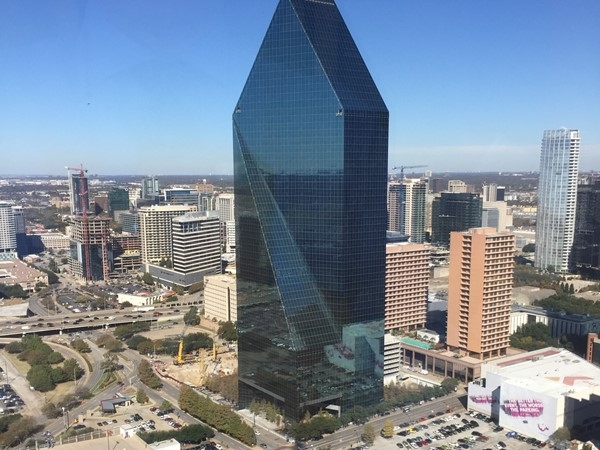 You have to visit high rises to get this kind of shot from downtown Dallas