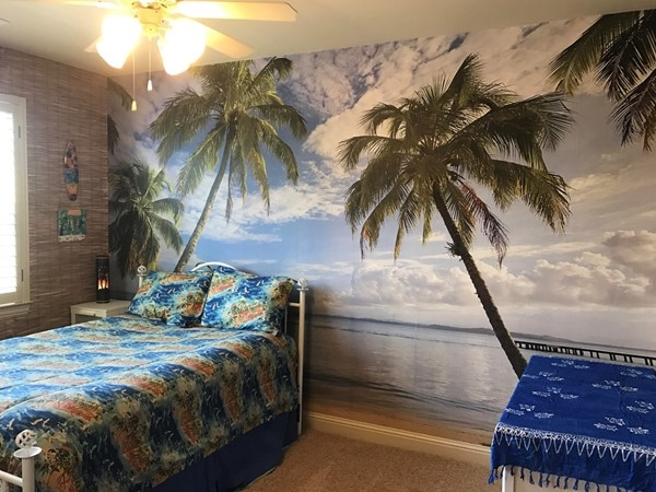 Miss the Tropics? This bedroom in Twin Creeks takes you there nightly