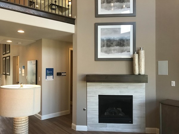 Nice gas fireplace in Model Home
