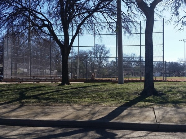Canyon Creek Park baseball field has bleachers and lights for night games