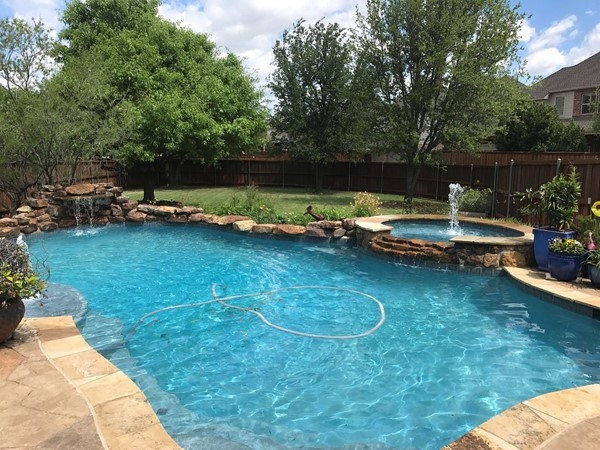 In Twin Creeks you can come home to your gorgeous pool area