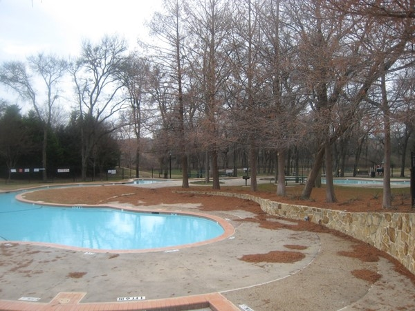 Lazy River pool near Rowlett Creek at community pool in Hunters Creek