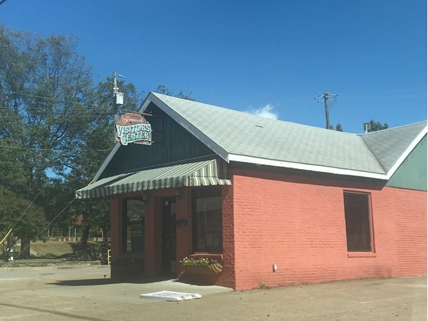 Visitor Center in country town of Farmersville