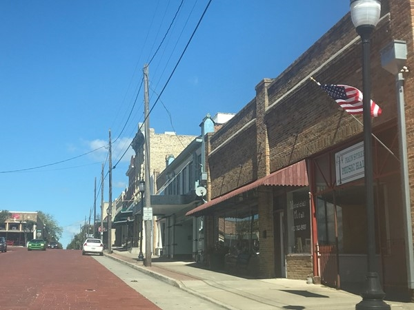 Follow the Red Brick Road in Downtown Farmersville