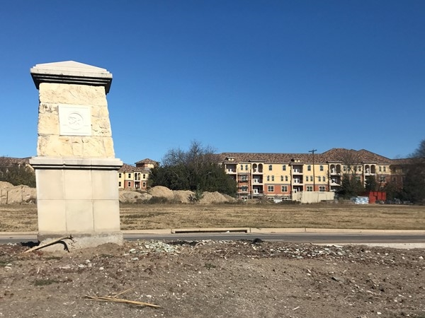 Brand new units north of Hwy 66 across from Kyoto Rowlett.  Walking for happy hour to Kyoto