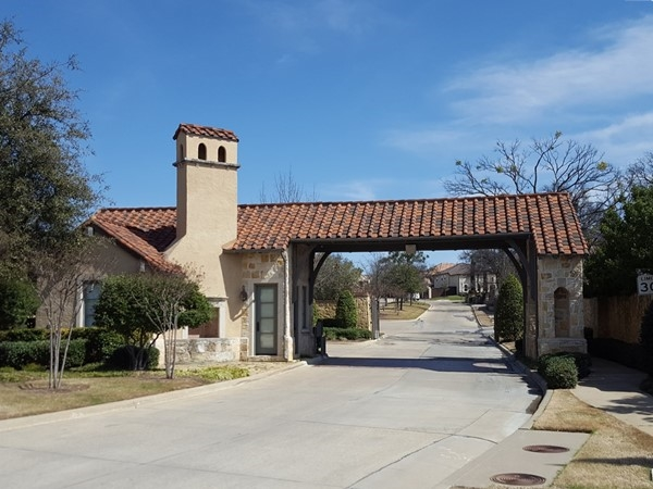 The main gate of Latera, a Toll Brothers development in Frisco
