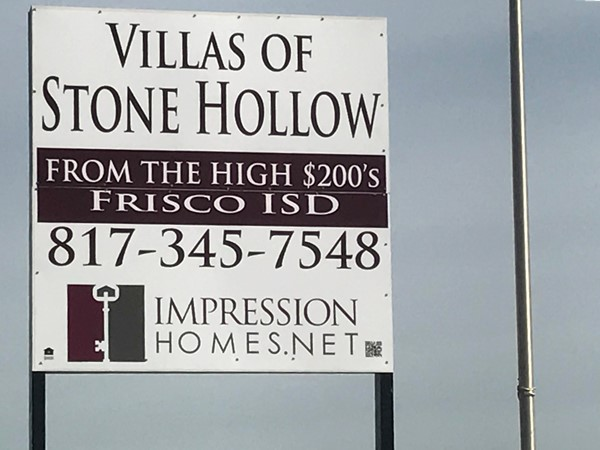 "Impression Homes has broke ground on the ""value option"" of Stone Hollow"