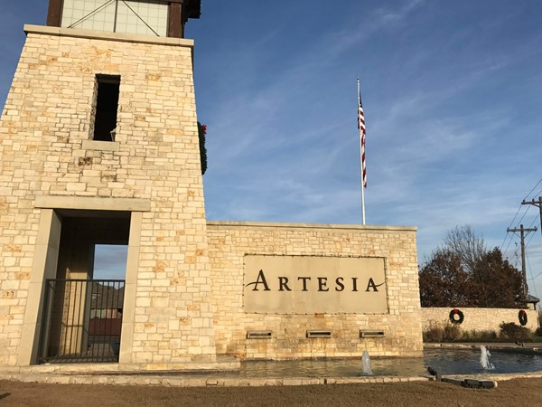 One of the entrances to Artesia in Prosper