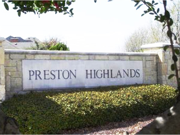 Preston Highlands North is a residential neighborhood and a community of single-family homes