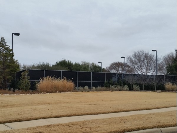 Tennis courts at Russell Creek