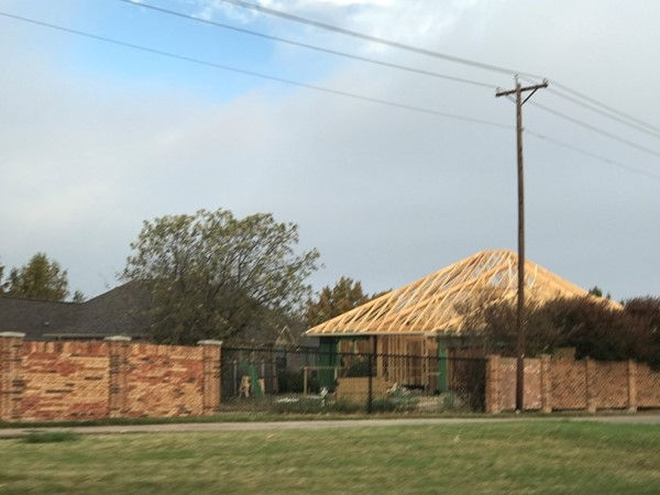 Finally being rebuilt, this home was destroyed by a category 5 tornado that ripped through Rowlett
