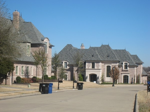 Gorgeous brick and stone custom homes in Chapel Creek