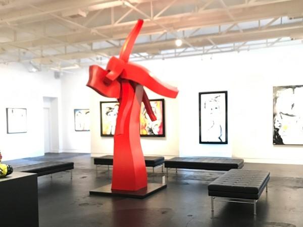 JD Miller art on display at the John Henry Exhibit Samuel Lynne Gallery