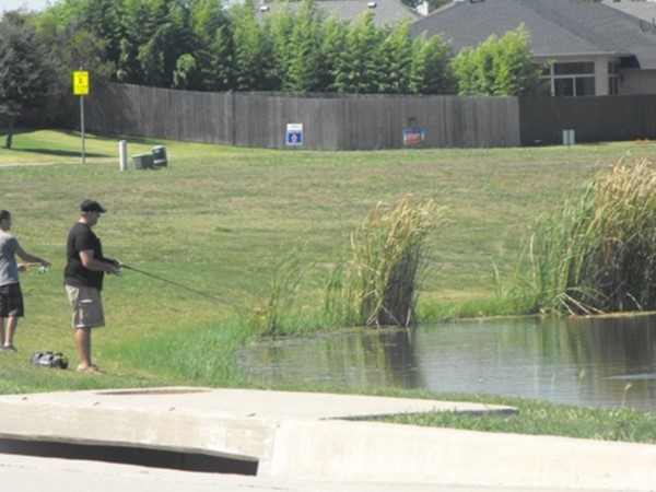 Stocked fishing pond is one of the many amenities