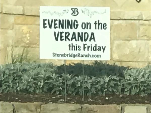 Enjoy an Evening on the Veranda in Stonebridge Ranch