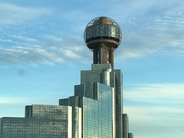 The Reunion Tower has a remodeled observation deck! Dallas is beautiful!