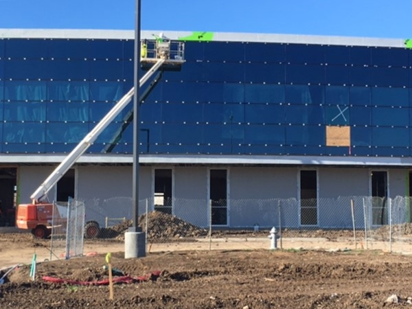 Paint goes on the new Career and Technology Center in GISD