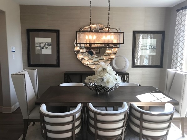 Spacious dining area in Model Home at Sorrento