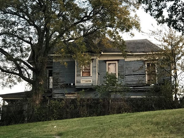 And this house is still barley standing. South of I-30