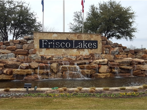 The entrance to Frisco Lakes