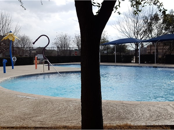 The community pool awaits you