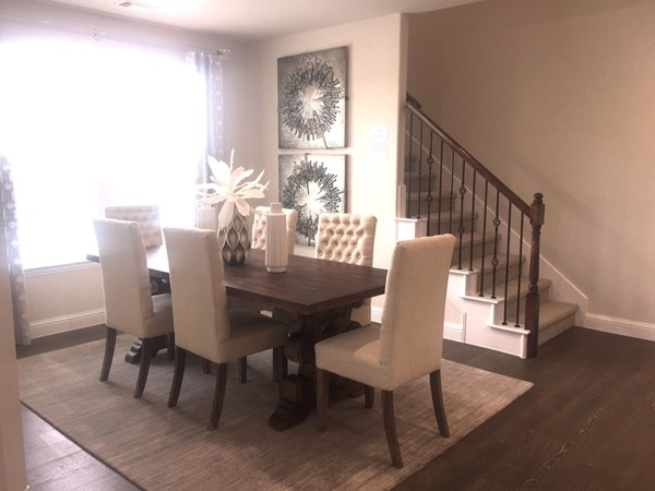 Formal dining area in Hampton Homes
