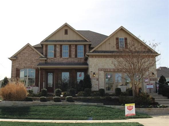 The Beazer model home at Live Oak Creek